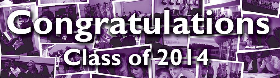 Congratulations class of 2014 banner