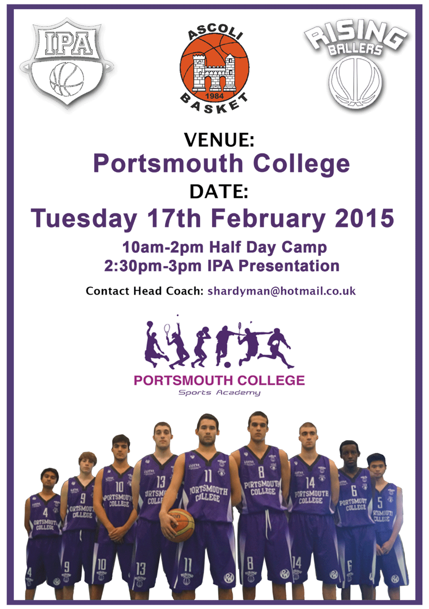 Portsmouth College Basketball Poster
