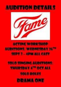 Fame Audition Details
