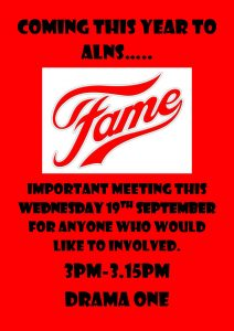 Get involved in this year's school production of Fame!