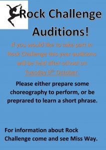 Rock Challenge Auditions