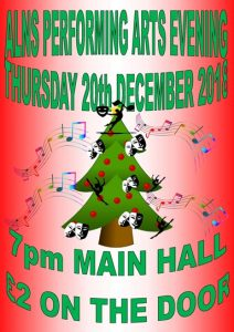 Performing Arts Evening – Thursday 20th December 2018