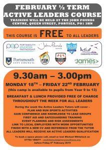 Active Leaders Course (Y9-11) – February Half Term