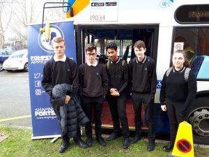 ALNS students visit the apprenticeship bus