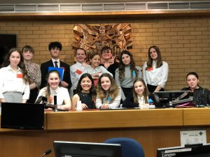 Year 9 Challenge Club take part in the Hampshire Magistrates Mock Trial