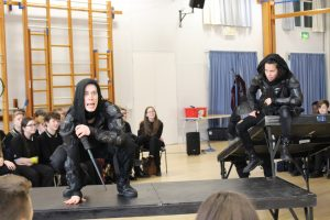 Box Clever Theatre Company perform Macbeth to Year 11 Students