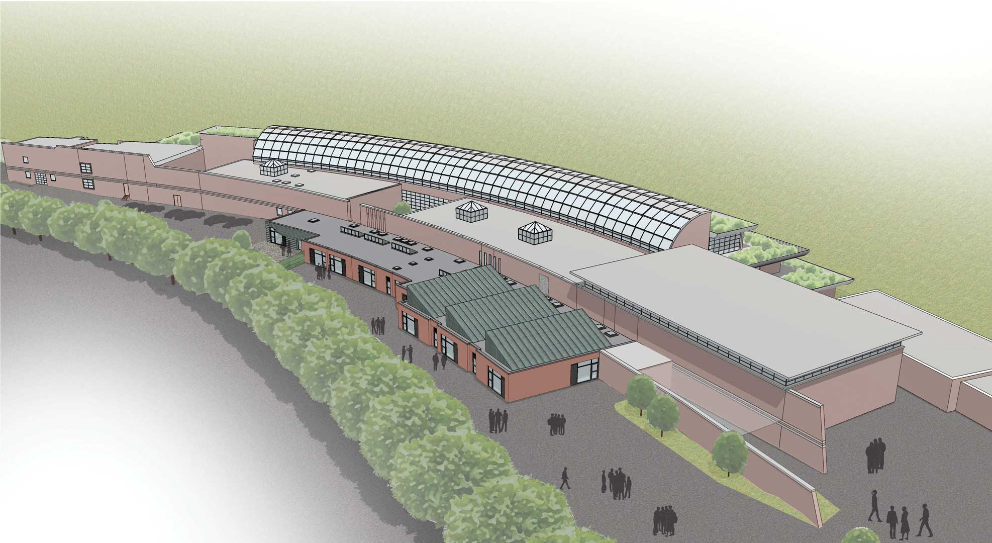 Artist's impression of the completed expansion.