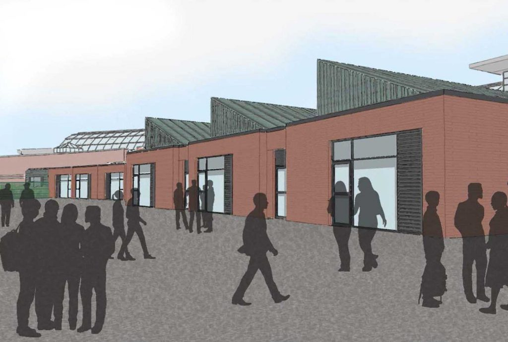 Artist's impression of the exterior of the new expansion.