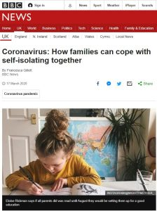 Coronavirus: How families can cope with self-isolating together