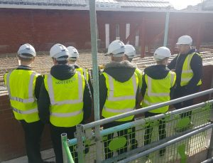 Students tour the expansion