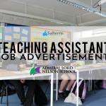 TEACHING ASSISTANT JOB ADVERTISEMENT