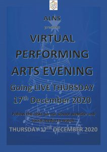 VIRTUAL PERFORMING ARTS EVENING