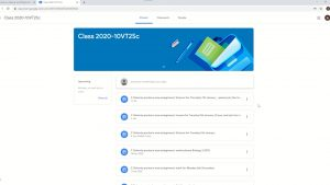Google Classroom – Finding your timetable and work