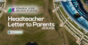 Headteacher Letter to Parents: 05.01.2021