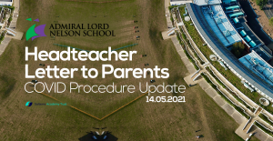 COVID Procedures Update – Letter to Parents: 14.05.2021