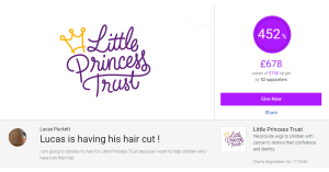 Support Lucas in Year 8 – Raising money for 'The Little Princess Trust'