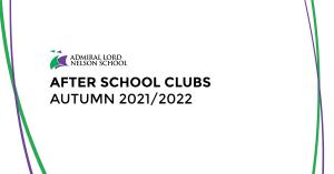 After School Clubs – Autumn Term – 2021/2022